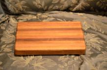 "# 13-01. Cherry, Hard Maple and Black Walnut. 8"" x 10"" x 3/4""."