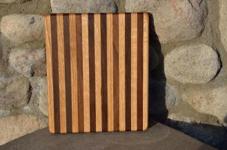 "# 14-03. Red Oak and Black Walnut. 8"" x 10"" x 1""."