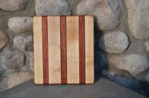 "# 14-06. Hard Maple, Padauk and Black Walnut. 8"" x 10"" x 3/4""."