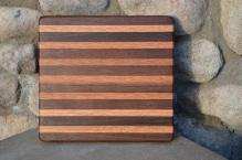 "# 14-10. Black Walnut and Red Oak. 8"" x 10"" x 3/4""."