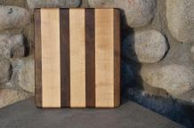 "# 14-12. Black Walnut & Hard Maple. 8"" x 10"" x 3/4""."