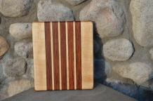"# 14-19. Hard Maple and Jatoba. 8"" x 10"" x 1""."