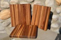 "# 14-41. Black Walnut. Approximately 10"" x 12"" x 1""."