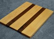 "# 14-42. Hard Maple and Black Walnut. 8"" x 10"" x 3/4""."