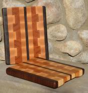 "# 14-43. Black Walnut, Hard Maple and Cherry. 8"" x 10"" x 1""."
