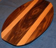 Surfboard # 15 - 02. Black Walnut and Cherry.