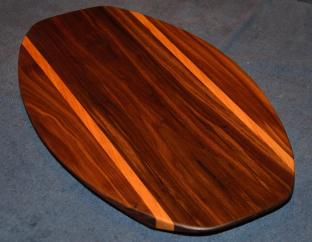 Surfboard # 15 - 03. Black Walnut & Cherry.