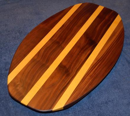 Surfboard # 15 - 04. Black Walnut & Yellowheart.