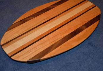 Surfboard # 15 - 05. Cherry, Black Walnut & Hard Maple.
