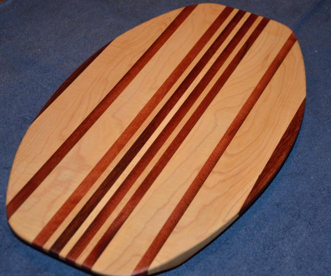 Surfboard # 15 - 06. Hard Maple & Jarrah.