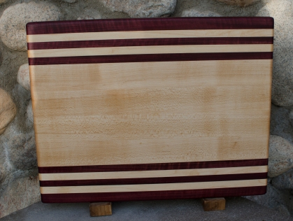 This is a normal 12x16 cutting board, but has been engraved on the back to personalize it as a wedding gift.