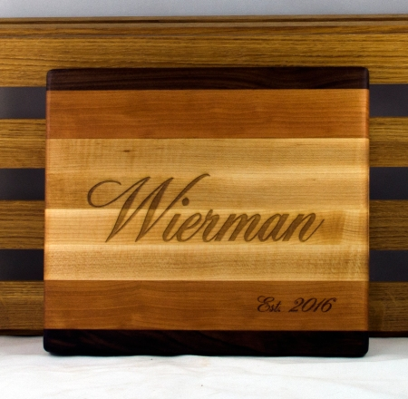 I was happy to make an engraved cutting board for the happy couple, as well!