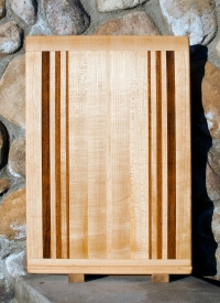 "Cutting Board 17 - 105. Hard Maple & Jatoba. 16"" x 23"" x 3/4""."
