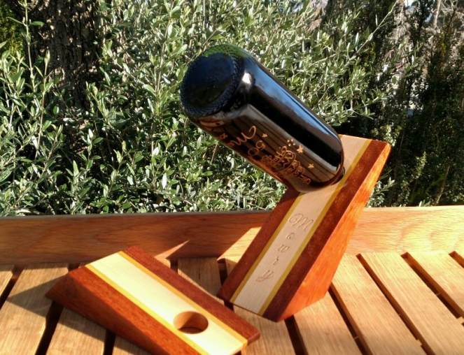 Wine Bottle Holder 17 - 01. Jatoba, Hard Maple & Yellowheart.