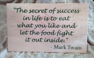 CNC Sign 18 - 10 The Secret of Success