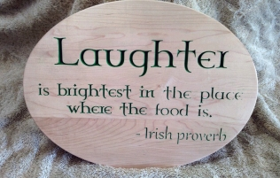 CNC Sign 18 - 12 Laughter