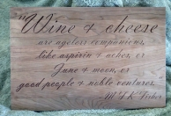 CNC Sign 18 - 15 Wine & Cheese