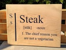 CNC Sign 18 - 29 Steak