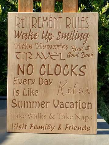 CNC Sign 18 - 34 Retirement Rules