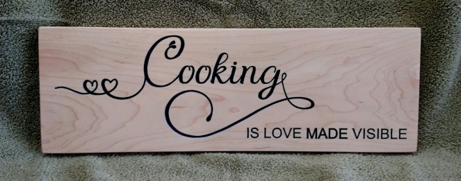 CNC Sign 18 - 35 Cooking Is Love