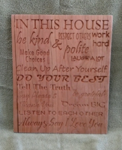 CNC Sign 18 - 50 In This House