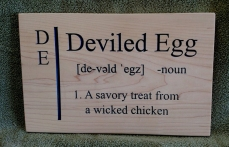 CNC Sign 18 - 55 Deviled Egg