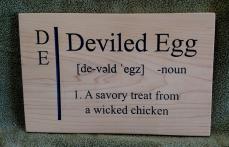 CNC Sign 18 - 55 Deviled Egg