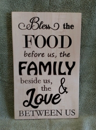CNC Sign 18 - 62 Bless The Food