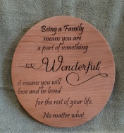 CNC Sign 18 - 63 Being A Family