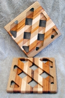 Trivet 18 - 736. White Oak, Goncalo Alves & Hard Maple.
